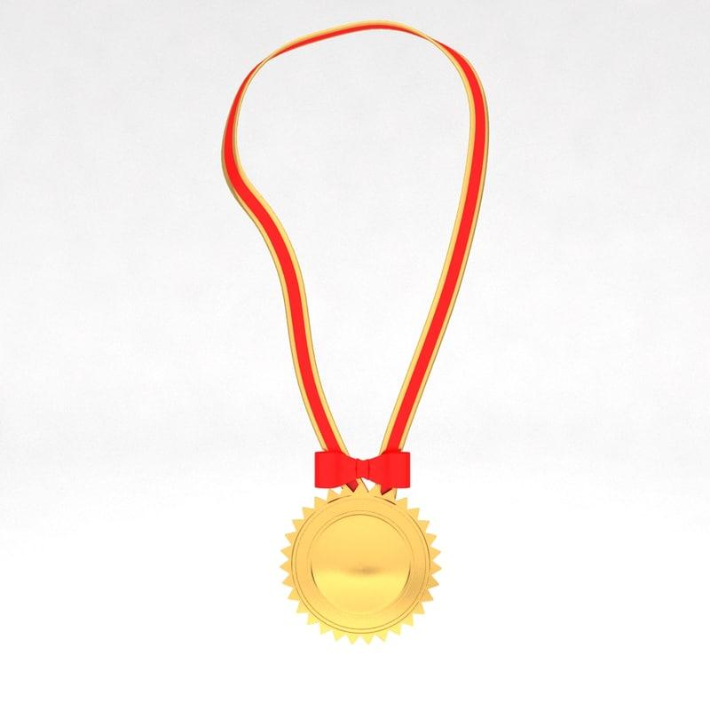 3d model awards medal