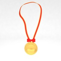 3d model awards medal