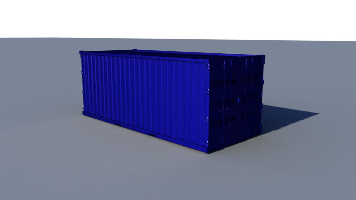 container scene obj