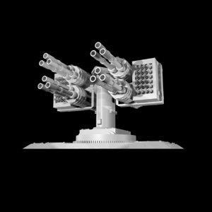 turret missile laser 3d model