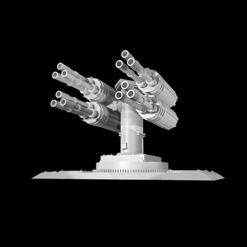 3d model turret laser