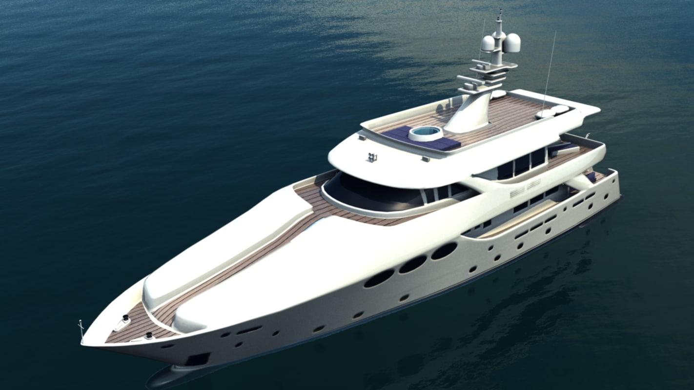 yacht 3d max