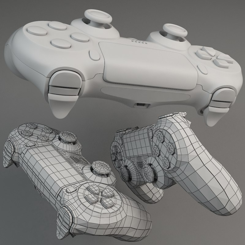 base dualshock mesh 3d 3ds