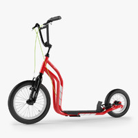 3d scooter yedoo red model