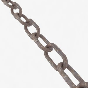 chain old steel 3d max