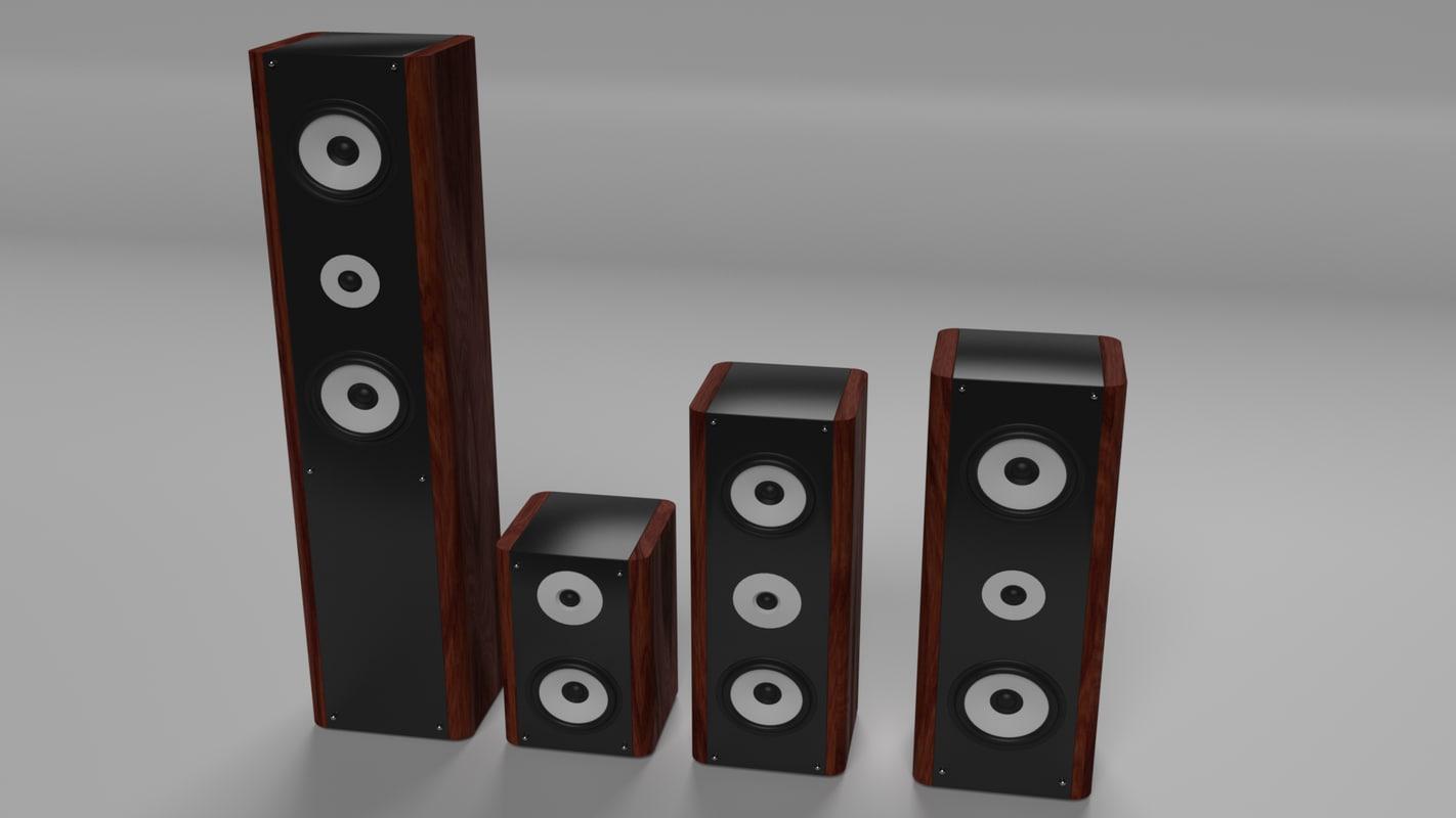 3d speakers model