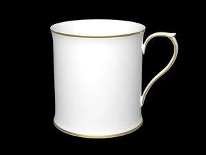 tea cup gold 3d max