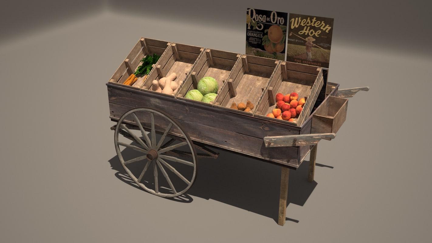 3ds max fruit cart