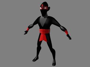 evil ninja 3d max