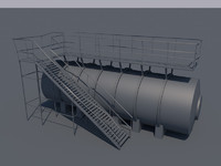 Low Poly Oil Tank
