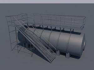 oil tank 3d 3ds