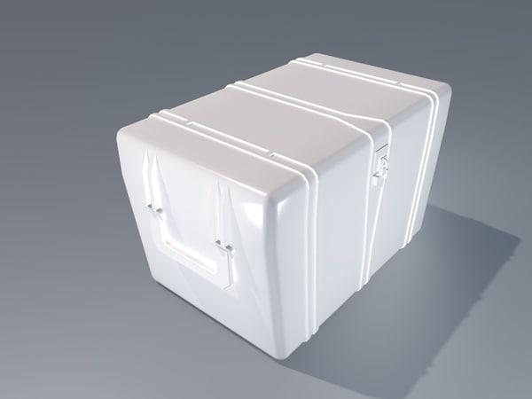 3d simple crate code lock model