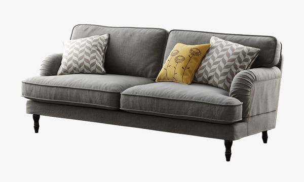 3d ikea stocksund sofa model