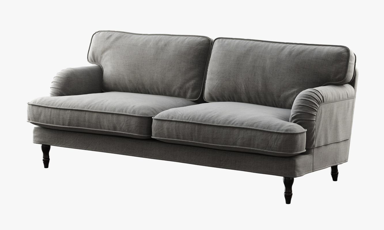 3d Ikea Stocksund Sofa Model