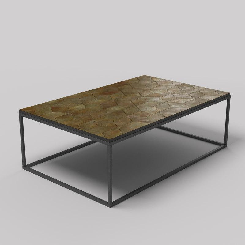 max metal coffee table