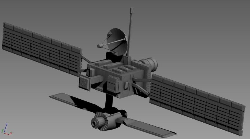 space satellite spacecraft 3d 3ds