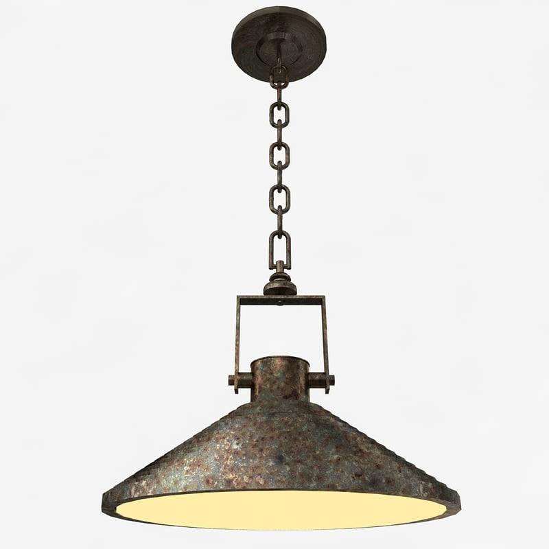 3d model of pendant lamp vintage