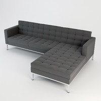 corner sectional wool sofa 3d max