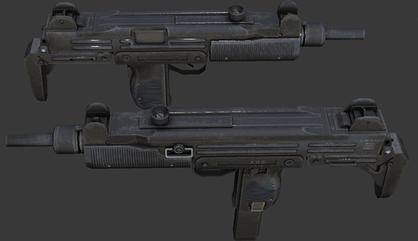 9mm sub machinegun ready 3d model