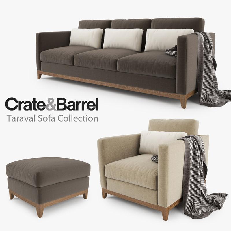Attractive Crate Barrel Taraval Sofa Max