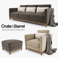 crate barrel taraval sofa max