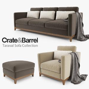 crate barrel taraval sofa max