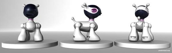 robot dog c4d