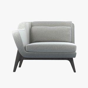 3d enne glorious armchair sofa