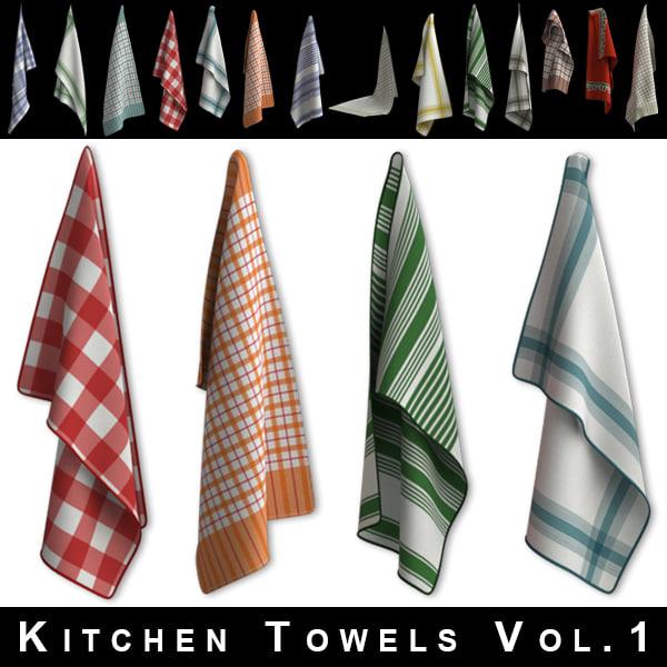 kitchen towels 3ds