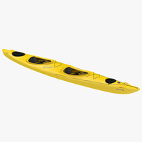 3d kayak 2 yellow model