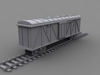 boxcars cargo trains 3d max