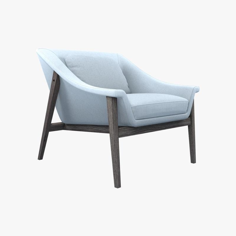 chair gaia lounge 3d model