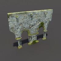 3d english castle ruin model