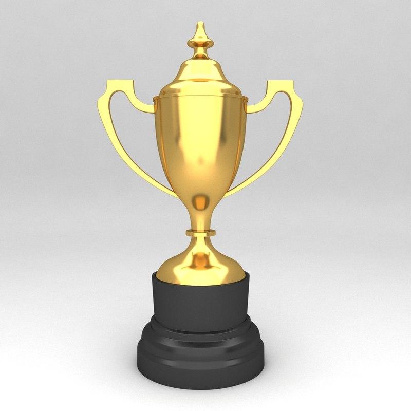 3d awards trophies