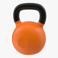 3ds kettlebell 2 orange modeled