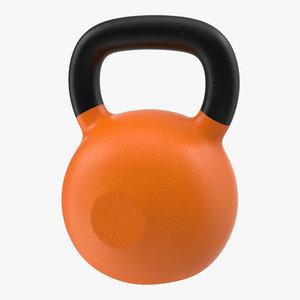 3ds kettlebell 2 orange modeled