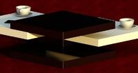 modern coffee table julieta 3d rvt