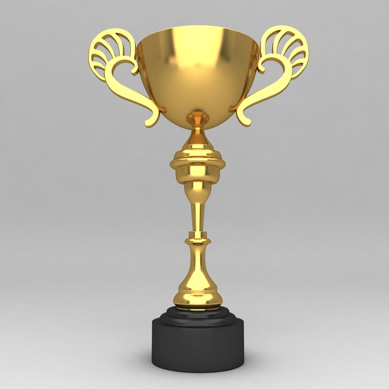 awards trophies 3d model