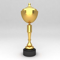 awards trophies 3d obj