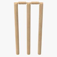 cricket wicket 3d model