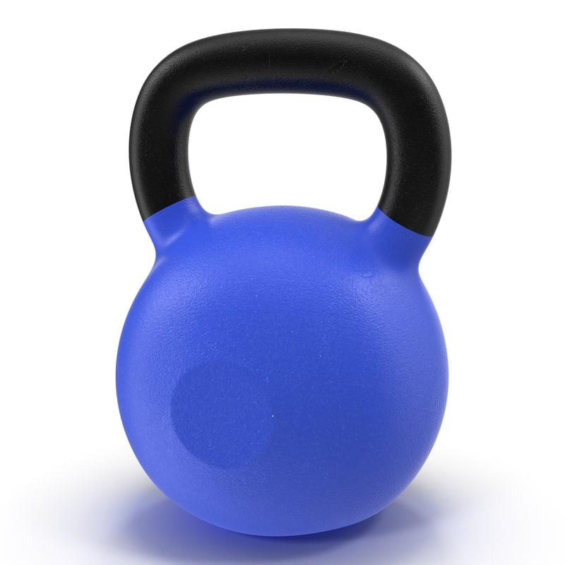 3d kettlebell 2 blue
