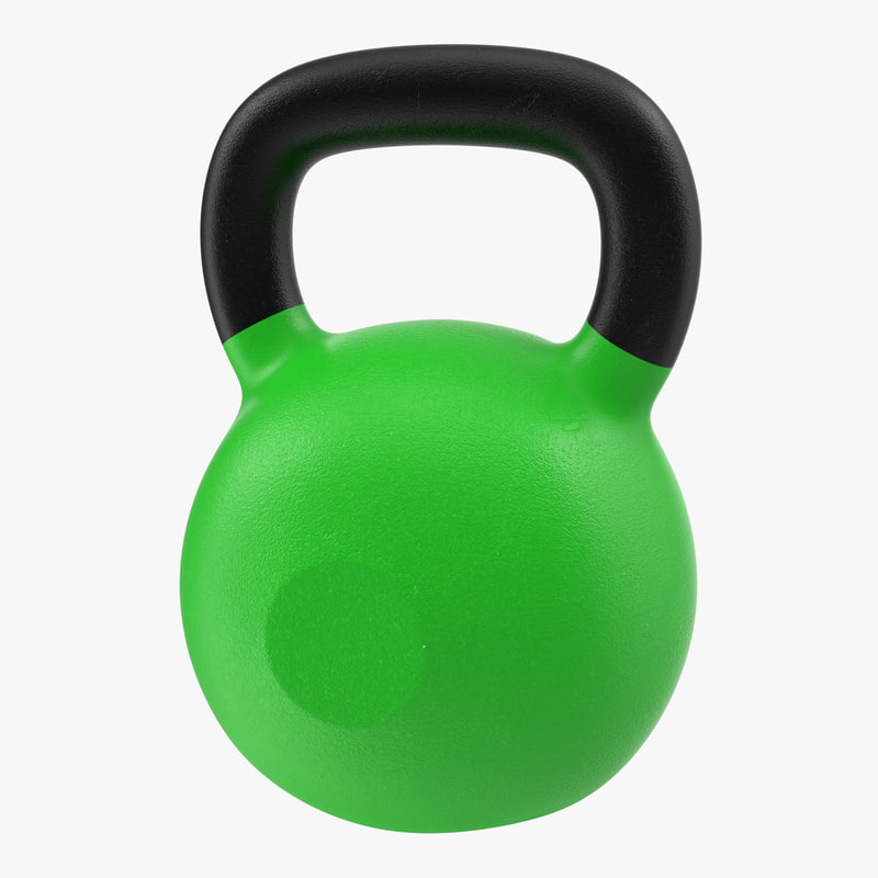 kettlebell 2 green 3d model