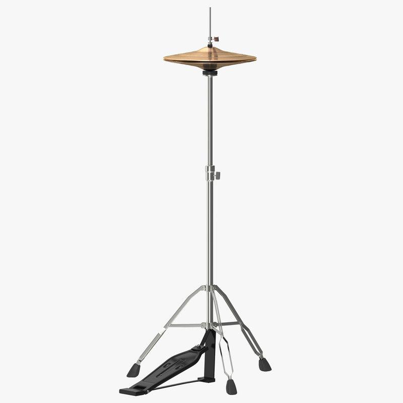 3d hi-hat cymbal