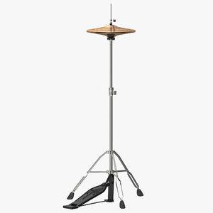 hi-hat cymbal modeled 3d model