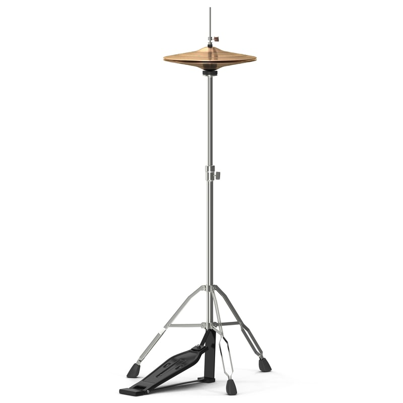 hi-hat cymbal modeled 3d model