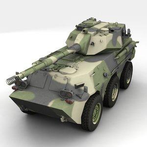 ptl02 tank destroyer 3d model