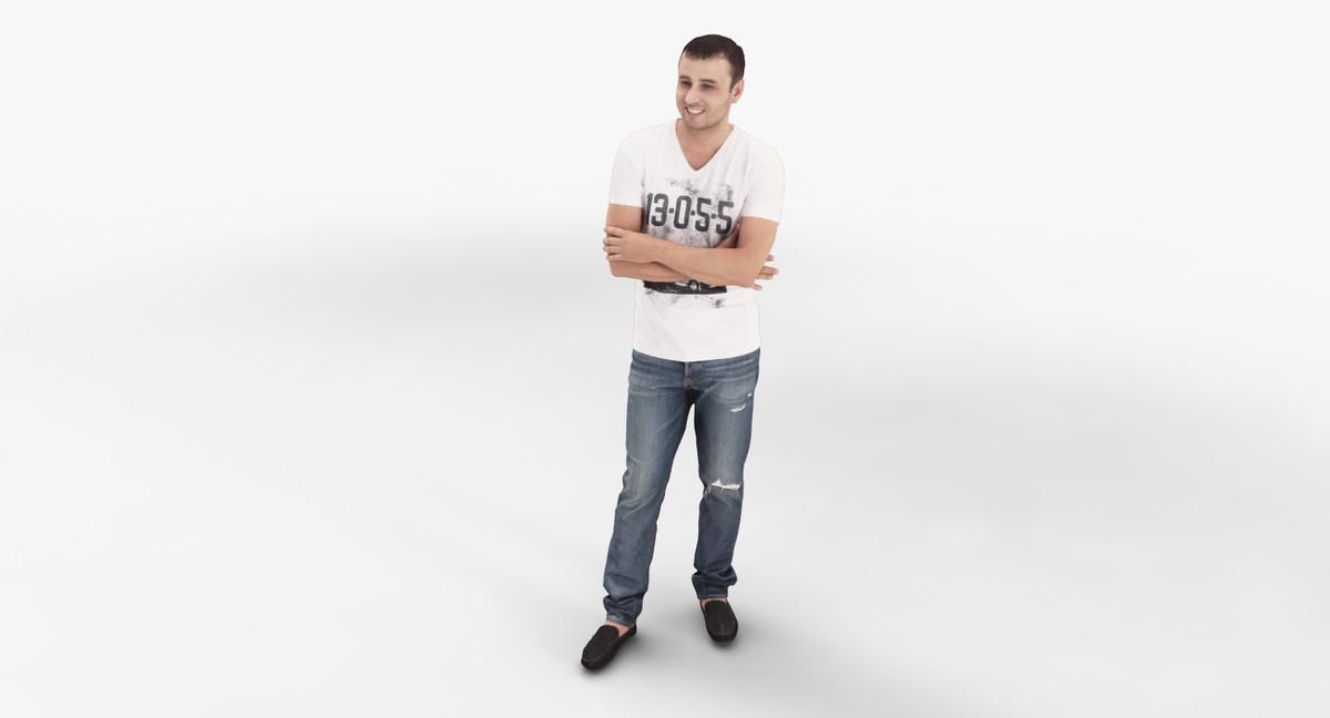 man male character 3d model