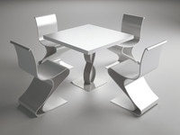 dwg table chairs