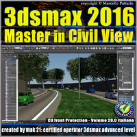 029 3ds max 2016 Master in Civil View vol. 29 cd front