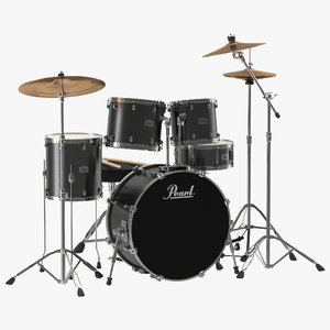 3d drum kit modeled